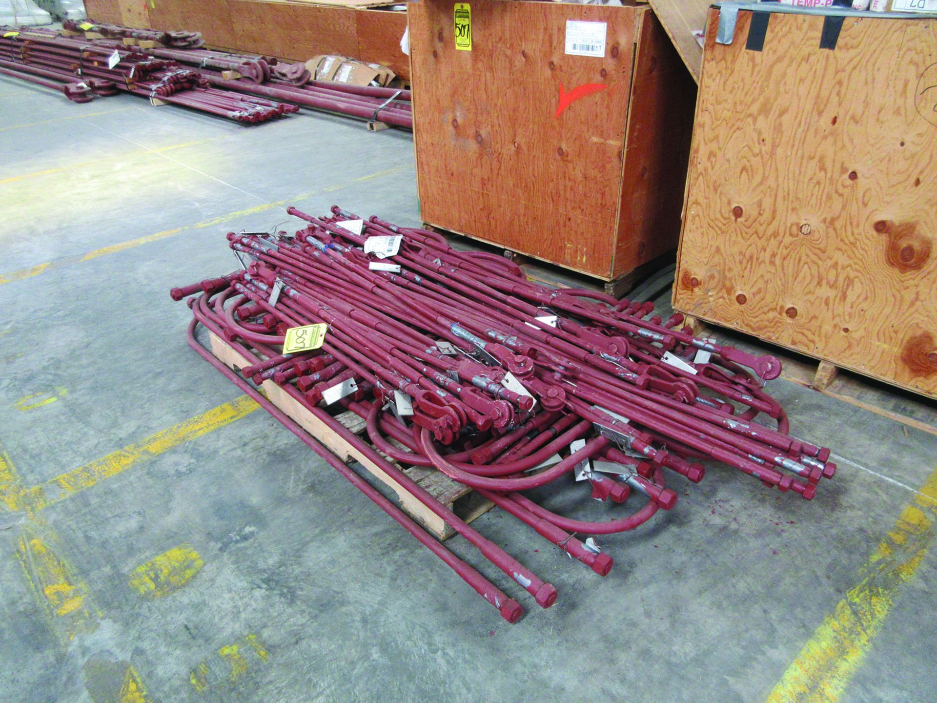 STRUCTURAL STEEL: RODS, PIPE, BRACKETS, FLANGES, GRID D7 - Image 3 of 14