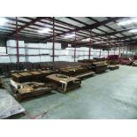 LARGE LOT OF STRUCTURAL STEEL: I-BEAMS UP TO 189'' X 16'' X 16'' X 1 3/4'', PLATE, COVERS, GRID C6