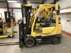 2014 HYSTER 6,000-LB., MODEL: S60FT, S/N: G187V02328M, LPG, LEVER SHIFT TRANSMISSION, SOLID TIRES,