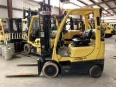 2014 HYSTER 5,000-LB., MODEL: S50FT, S/N: F187V25853M, LPG, LEVER SHIFT TRANSMISSION, SOLID TIRES,