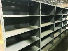 (36X) STEEL SHELVING - 48'' X 24'' X 87'', 6 SHELVES PER SECTION CLOSED SIDES & BACK