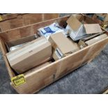 CRATE OF PAINTING SUPPLIES