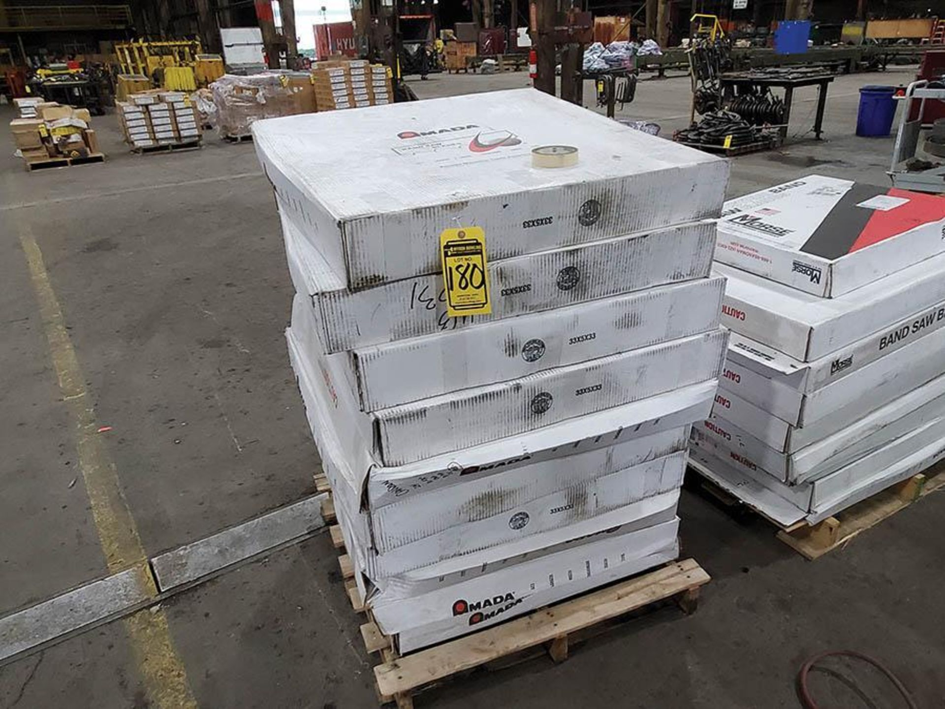 LOT ON PALLET, AMADA BANDSAW BLADES 29FT X 2 5 8IN
