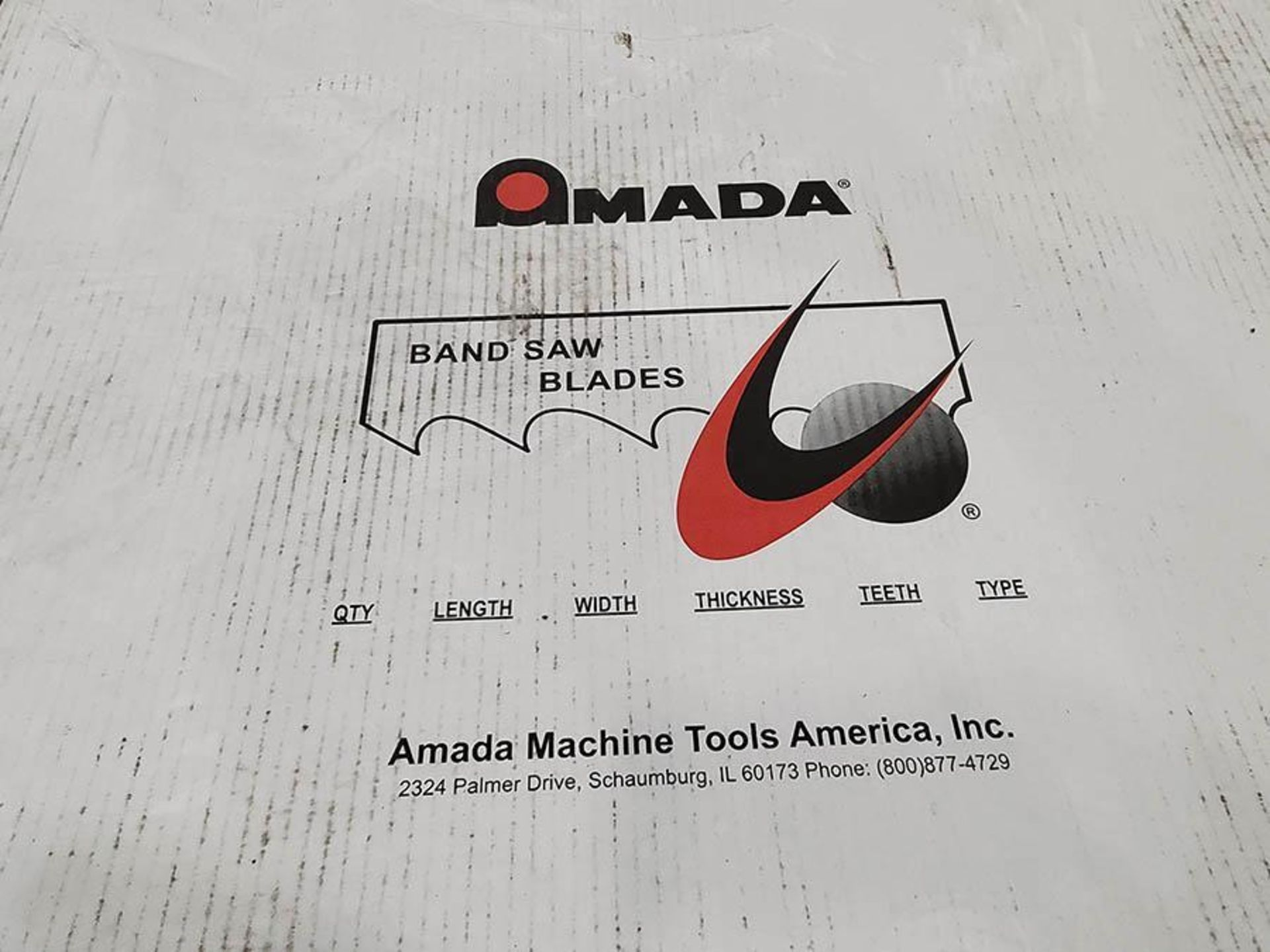 LOT ON PALLET, AMADA BANDSAW BLADES 29FT X 2 5 8IN - Image 2 of 4