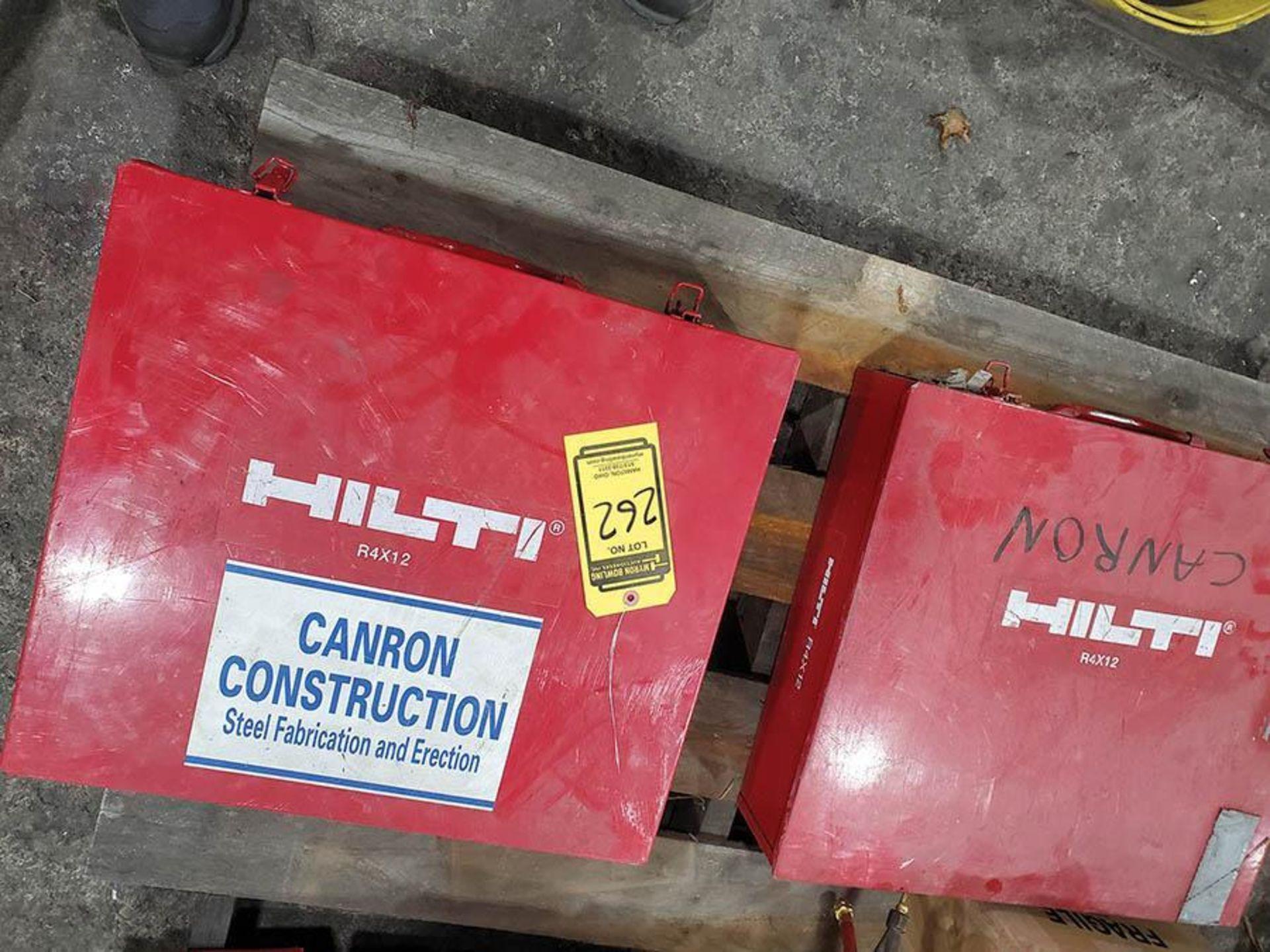 LOT ON PALLET, (2) HILTI R4X12 PNEUMATIC CONCRETE STEEL NAILERS