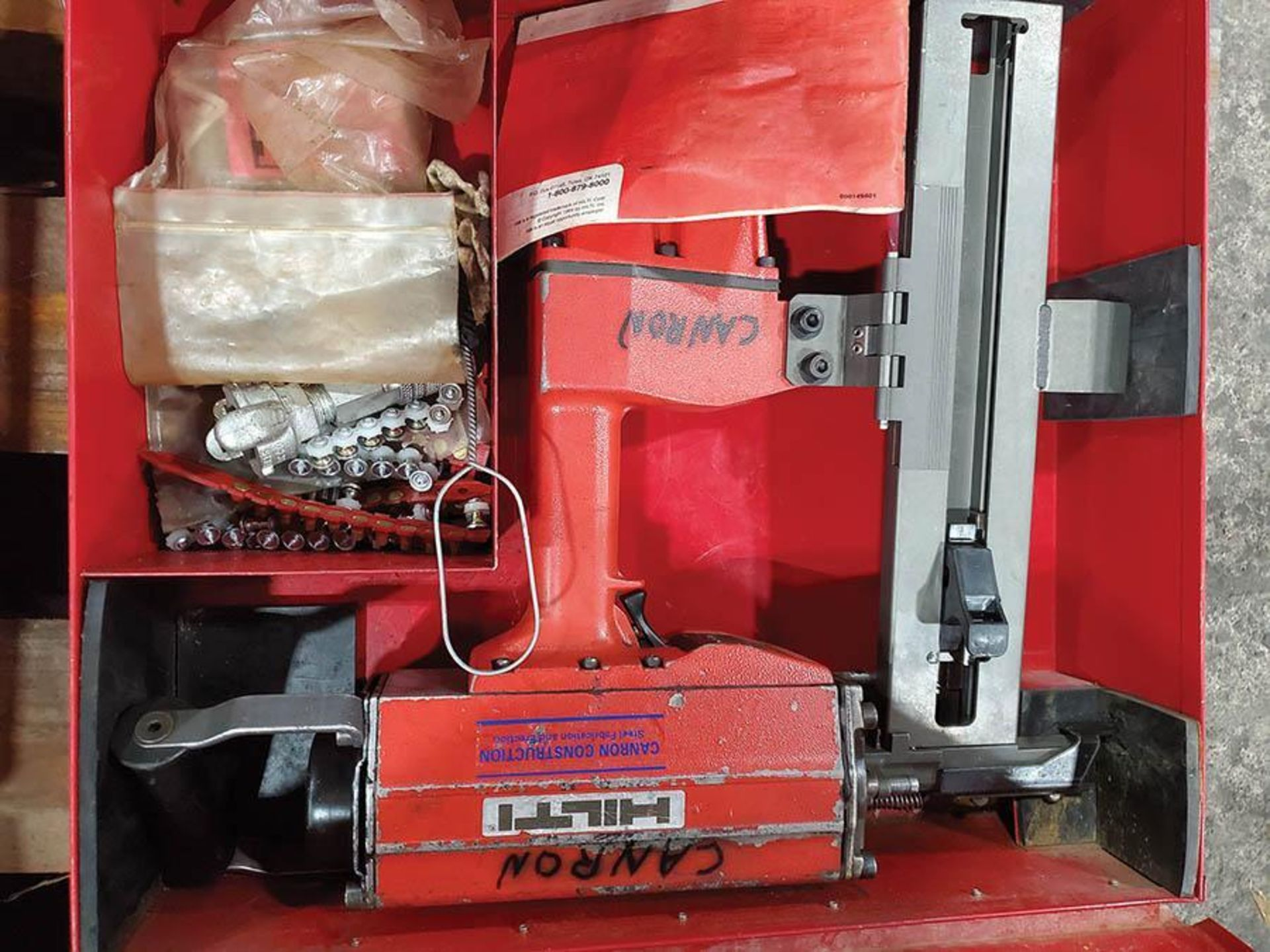 LOT ON PALLET, (2) HILTI R4X12 PNEUMATIC CONCRETE STEEL NAILERS - Image 5 of 6