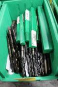 LOT: ASSORTED TAPER SHANK DRILL BITS