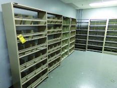 LOT OF SHELVING & (2) TABLES