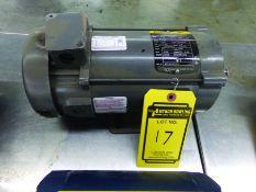 BALDOR 1/2-HP DC ELECTRIC MOTOR, ARM VOLTS 180, FIELD VOLTS 200/100, S/N W0705161010