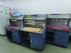 LOT OF (13) WORK STATIONS