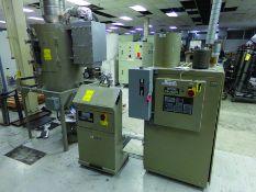 CONAIR DRYER MODEL DBBHO45000000, S/N D50402, 480 V., 3-PH, W/ CONAIR POWERFILL BLOWER & FILER UNIT,