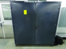 STRONG HOLD HEAVY DUTY 2-DOOR CABINET W/ CONTENT