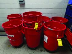 LOT OF ROLLING TRASH CANS