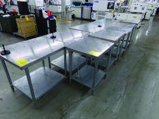 (14) ASSORTED SIZE STAINLESS TABLES