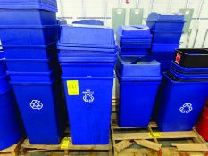 (2) PALLETS OF TRASH CANS