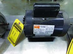 DAYTON 3/4-HP CAPACITOR START ELECTRIC MOTOR, 115/230 V., SINGLE PHASE, MOD 6K376BA