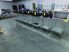 (7) 2' 6'' X 2' STAINLESS TABLES