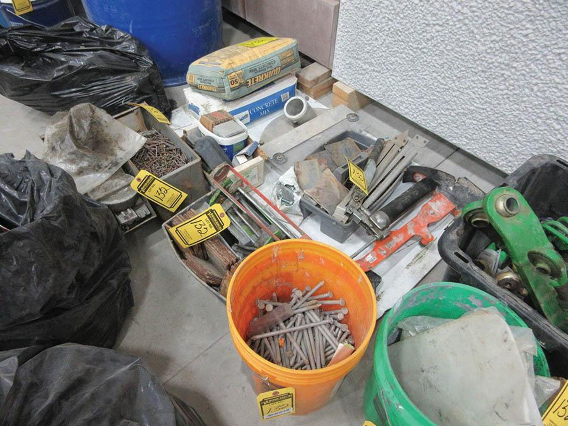 JOHN DEERE PARTS,SPIKES, NAILS, GREASE GUN, OTHER