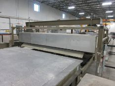 2012 VOLLERT STATIONARY PALLET CLEANER, 16'' DIA. SINGLE WIRE BRUSH, HANDLES UP TO 12' W. PALLETS