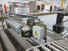 2012 VOLLERT INKJET LAYOUT PRINTER, SINGLE INKJET HEAD, CROSS WIDTH ARM, AUTOMATED COMPUTER CONTROL,