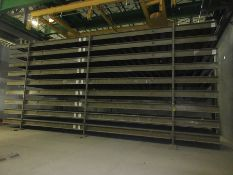 (18) 2012 VOLLERT 12' X 42' CONCRETE CASTING PALLETS, UNIQUE STEEL ASSEMBLY MATERIAL, 3/8'' PLATE,