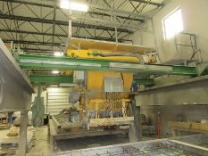 2012 VOLLERT CONCRETE PLACEMENT HOPPER, COMPUTER CONTROLLED, MOUNTED ON RAIL SYSTEM, V/S CONTROL,