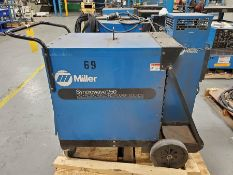 MILLER SYNCROWAVE 250 CC-AC/DC WELDER ON CART WITH WATERMATE 1 COOLING SYSTEM
