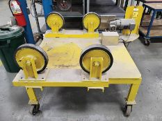 POWER TURN ROLLER, 12'' RUBBER TURN WHEELS, 1/2 HP, 2' CENTER, 48'' LENGTH GAP