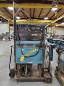 MILLER SYNCROWAVE 300 AC/DC TUNSGTEN-ARC SHIELDED METAL ARC WELDER ON CUSTOM CART WITH COOLMATE,
