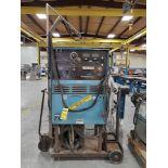 MILLER SYNCROWAVE 300 AC/DC TUNSGTEN-ARC SHIELDED METAL ARC WELDER ON CUSTOM CART WITH COOLMATE,