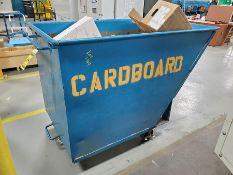 1-YARD CARDBOARD HOPPER ON CASTERS