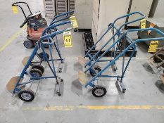 (4) 3-WHEEL BOTTLE CARTS