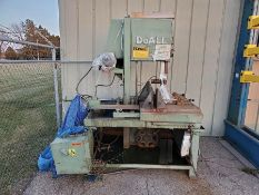 DOALL VERTICAL BAND SAW, MODEL U-1421, 172'' BAND LENGTH, HYDRAULIC, 15'' THROAT, DUAL MATERIAL