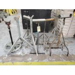 LOT: (8) ASSORTED PIPE EXTENSION STANDS, ASSORTED STYLE AND CAPACITY