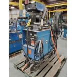 MILLER CP-200 CONSTANT POTENTIAL DC ARC WELDER ON CASTER CART WITH MILLER S-52E WIRE FEEDER
