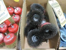 CRIMPED 3'' WIRE BRUSH CUPS