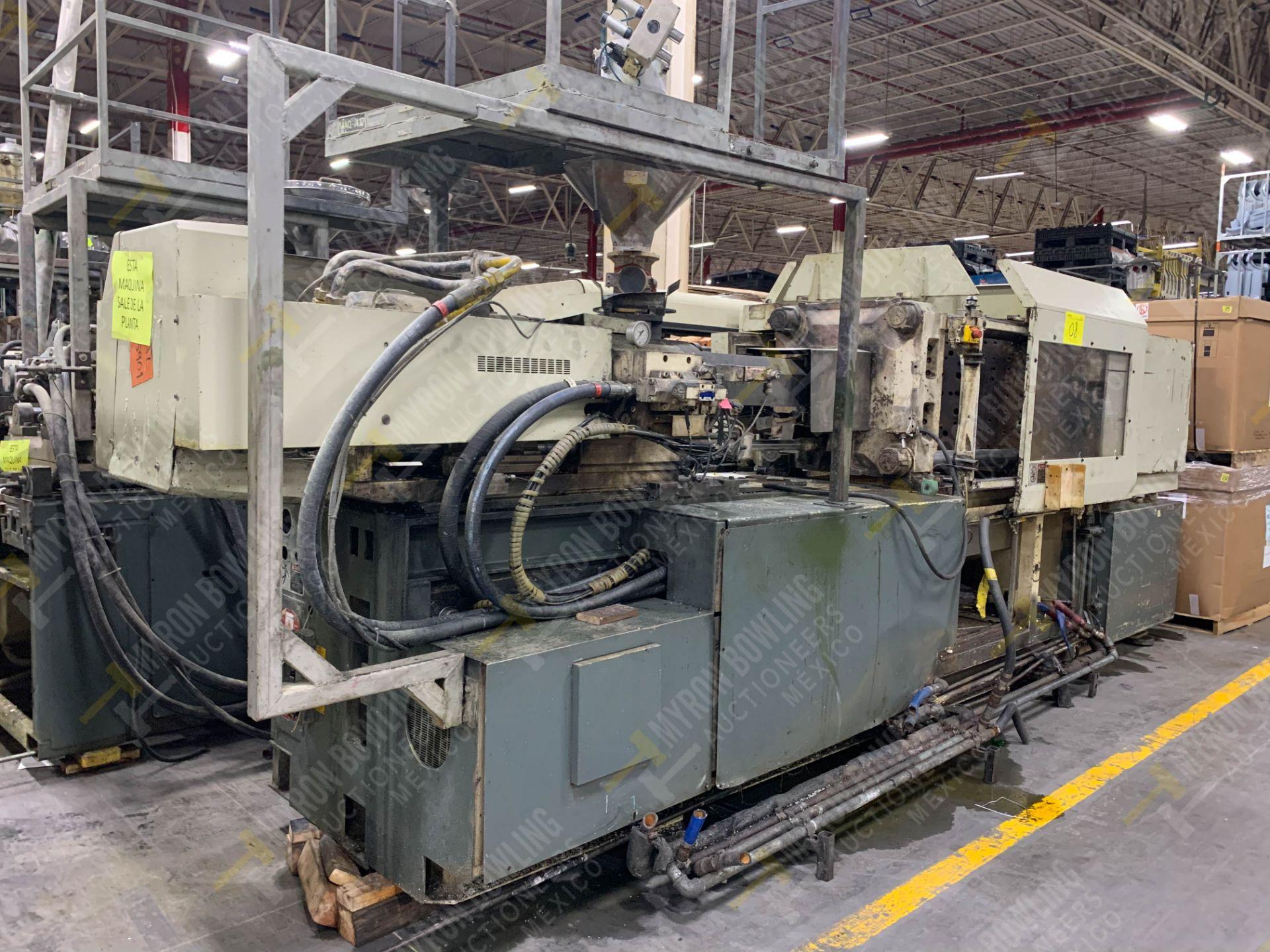 Lot 8 - 190 TON TOSHIBA ISG190V10-10A PLASTIC INJECTION MOLDING MACHINE.