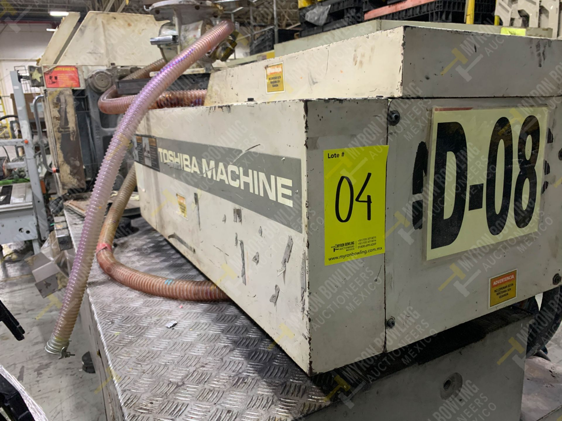 Lot 4 - 150 TON TOSHIBA ISG150NV10-5A PLASTIC INJECTION MOLDING MACHINE, MFG YEAR 1999