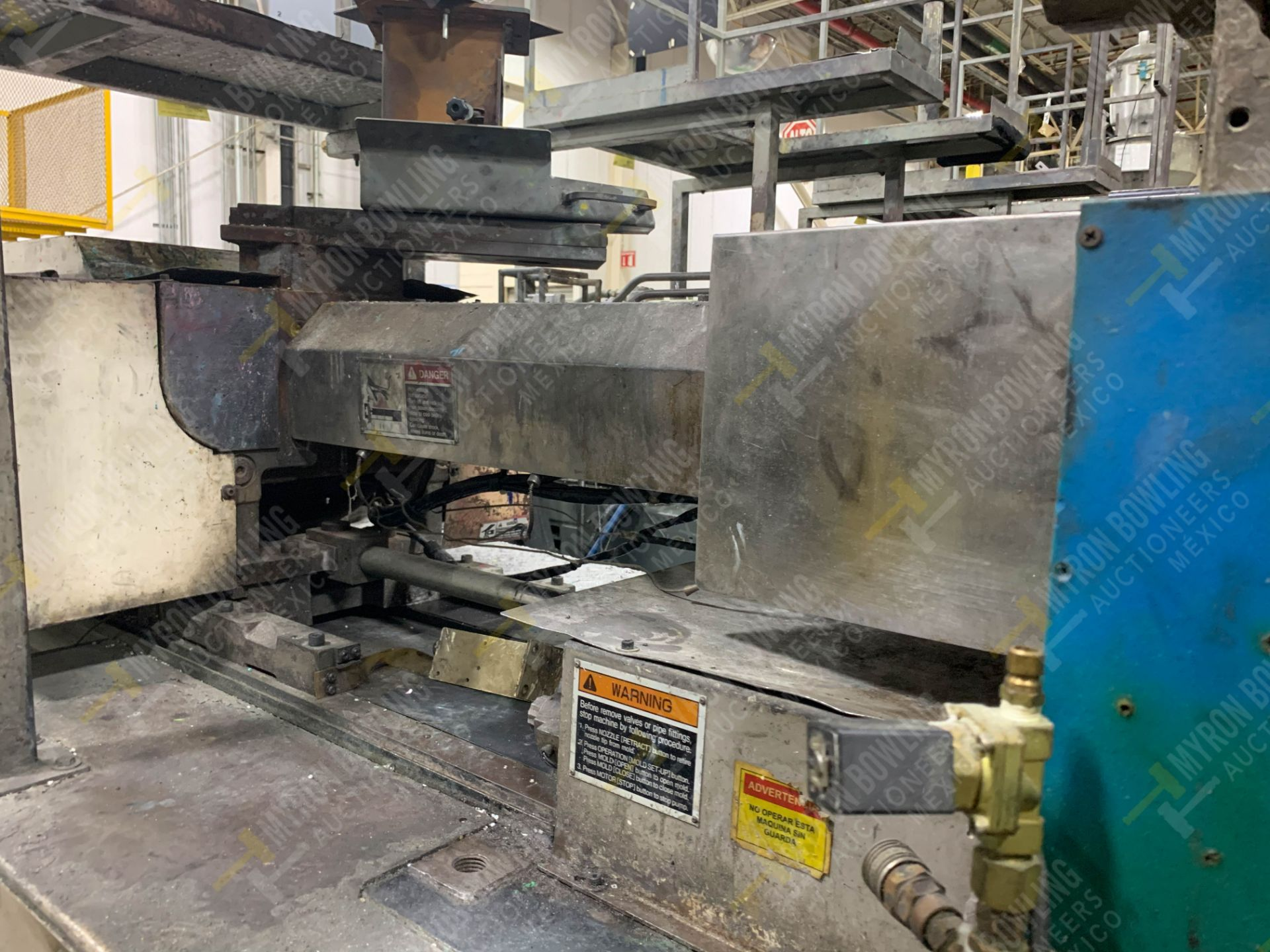 Lot 3 - 150 TON TOSHIBA ISG150NV10-7A PLASTIC INJECTION MOLDING MACHINE.