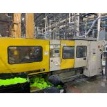 390 TON TOSHIBA ISG390 PLASTIC INJECTION MOLDING MACHINE, MFG YEAR 2000