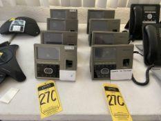 Lote de 8 relojes checadores con sistema biométrico