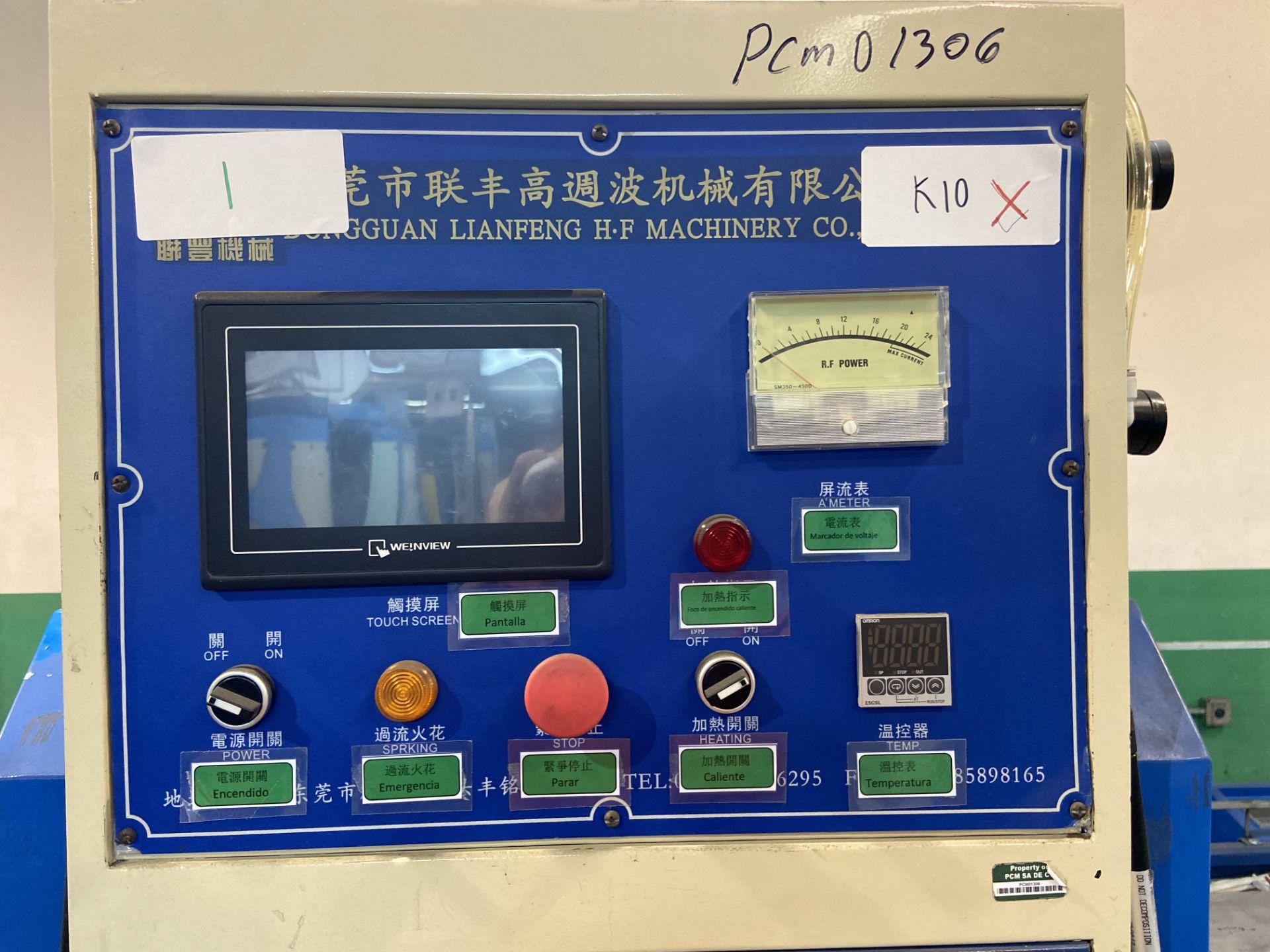 Lot 38 - Máquina de soldadura y corte de alta frecuencia marca Dong guan Lian feng, Modelo: LFRFW