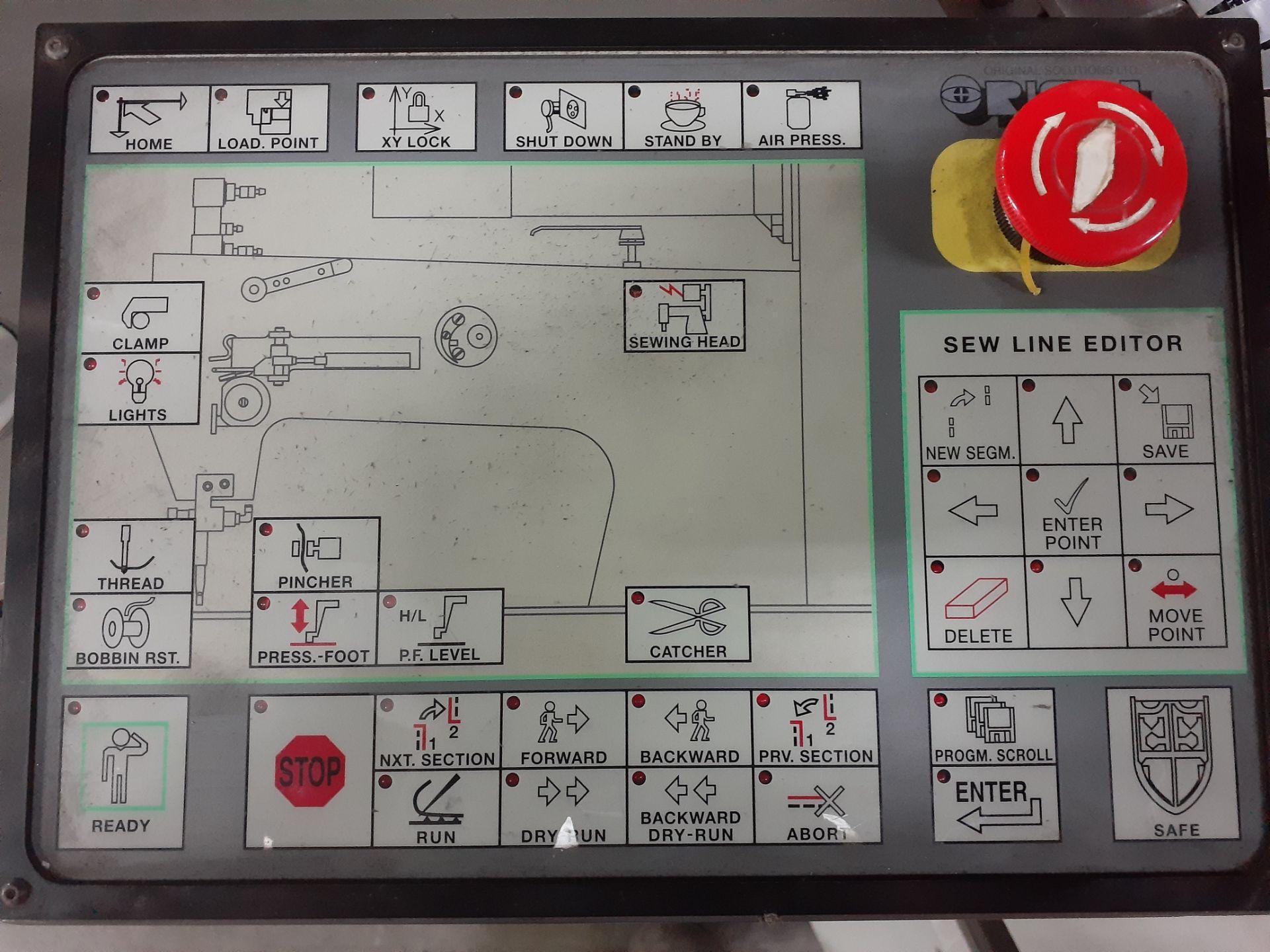 Lot 149 - Máquina de coser industrial computarizada de alto rendimiento marca Orisol, Modelo: OS-305