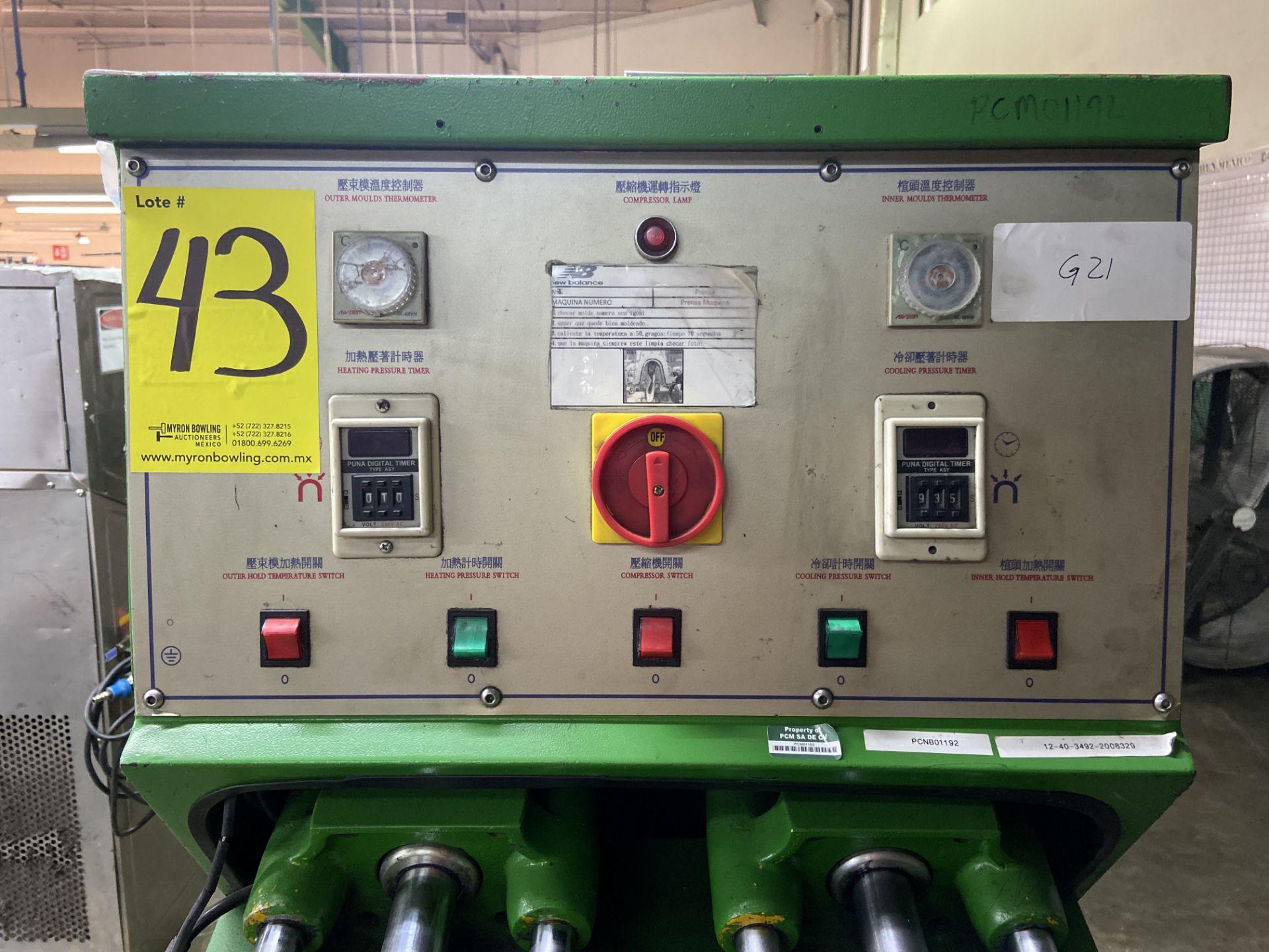 Lot 43 - Prensa para moldeado de talón caliente/frio marca True-Ten, Modelo: YK-666HC