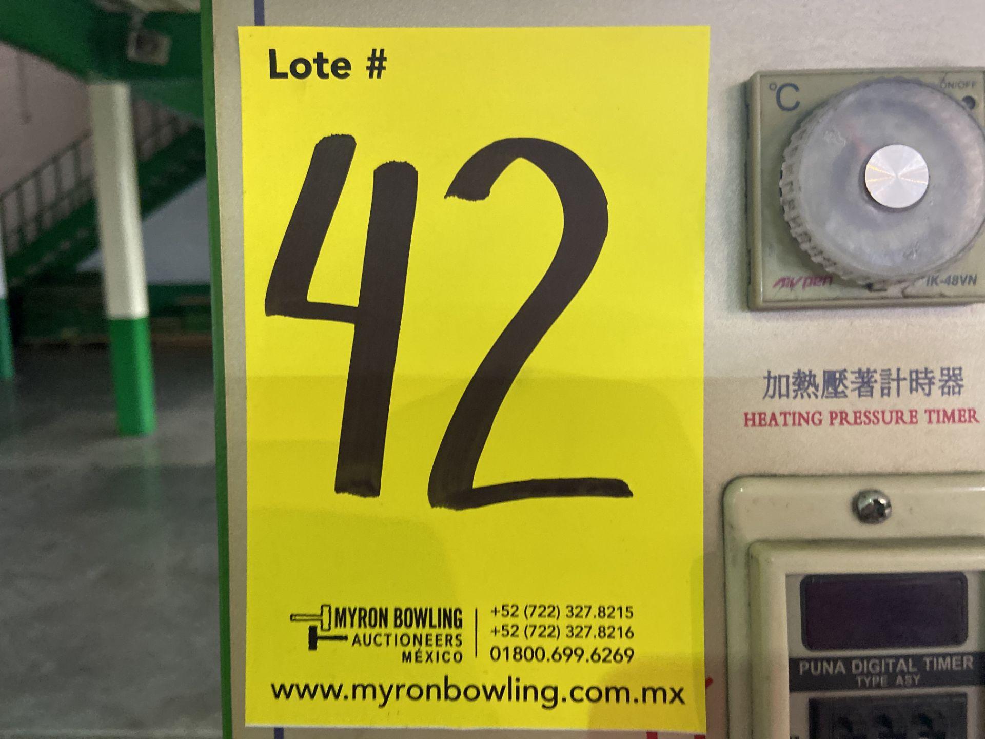 Lot 42 - Prensa para moldeado de talón caliente/frio marca True-Ten, Modelo: YK-666HC