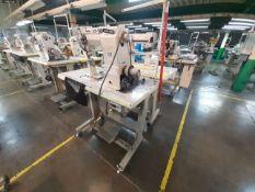 (2) Máquinas de costura marca Golden Wheel de una y dos agujas