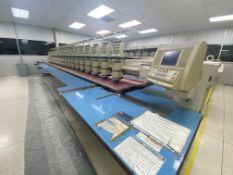 Máquina bordadora de 20 cabezas y 9 agujas marca Barudan, Modelo: BENSH-YN-B20S