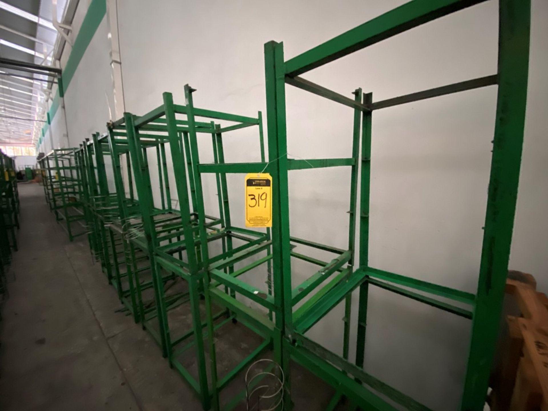 Aproximadamente 80 estantes metálicos en PTR y ángulo de diferentes medidas - Image 4 of 8
