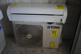 Mini split marca York, Modelo Evaporador: YH9FXC12BAH-FX, Modelo Condensador: YH9FYC12BAH-A-X