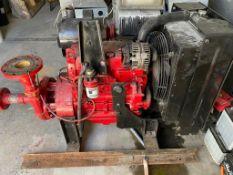 Motobomba para sistema contra incendios antifuego marca Barnes